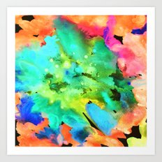 Bursting colour Art Print