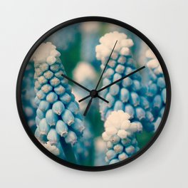 Muscari Field  - JUSTART © Wall Clock