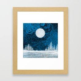 Full moon night Framed Art Print