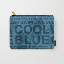 Summer Words Poolside and Palm Tree Hawaiian Graphic Design Carry-All Pouch