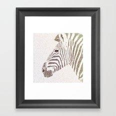 The Intellectual Zebra Framed Art Print