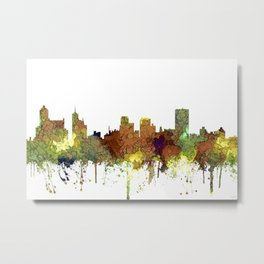 Memphis, Tennessee Skyline - Safari Buff Metal Print