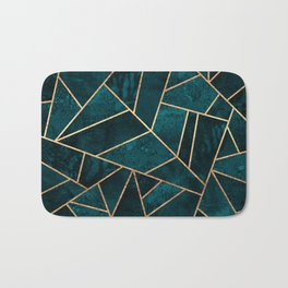 Deep Teal Stone Bath Mat