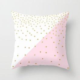 Elegant modern girly faux gold glitter confetti Throw Pillow