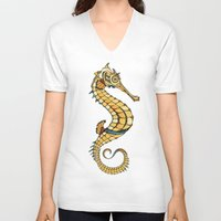seahorse V-neck T-shirts featuring Seahorse by Andreas Preis