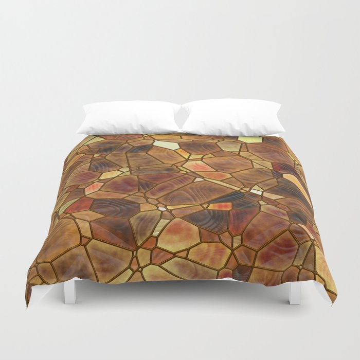 Stained Glass - Copper Duvet Cover