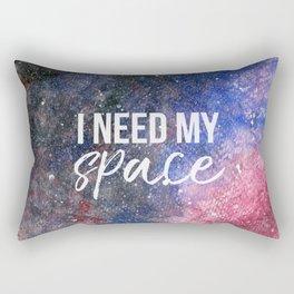 I Need My Space Watercolour Rectangular Pillow