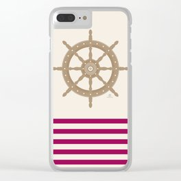 AFE Nautical Helm Wheel 2019 -3 Clear iPhone Case