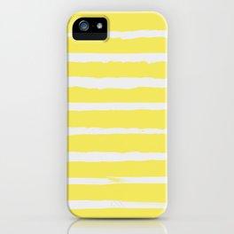 Irregular Stripes Yellow iPhone Case