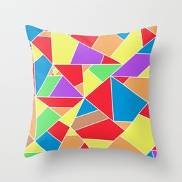 colorful mosaic - patchwork Throw Pillow
