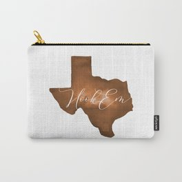Texas Longhorn Hook Em Watercolor Carry-All Pouch