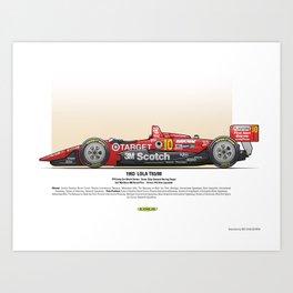 #10 LOLA - 1993 - T9300 - Luyendyk Art Print