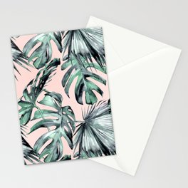 Island Love Coral Pink + Green Stationery Cards