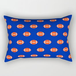 Football Florida University silhouette orange and blue pattern sports college gators gator fan Rectangular Pillow