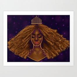 Kinked Up Queen Art Print