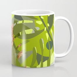 Tropical Jungle with red tiger cat Coffee Mug