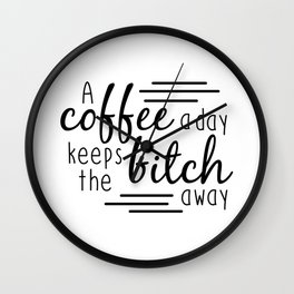 A Coffee A Day Wall Clock