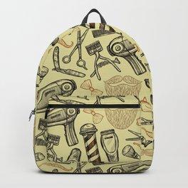 vintage style barber shop pattern Backpack