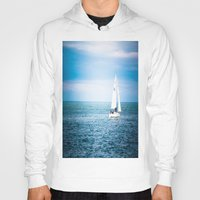 sailboat Hoodies featuring Howth sailboat by Alyson Cornman Photography