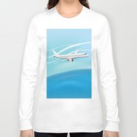 airplane Long Sleeve T-shirts featuring Airplane by salamandra7