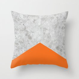 Concrete Arrow Orange #118 Throw Pillow