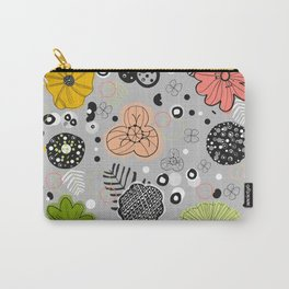 Abstract Colorful Floral Pattern Carry-All Pouch