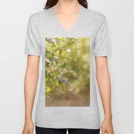 Texas Sunrise Blueberry Tree Unisex V-Neck
