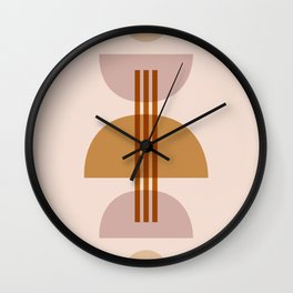 Amber Abstract Half Moon 1 Wall Clock