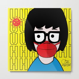 Mask Tina | Pop Art Metal Print