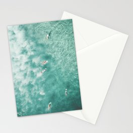 Surfing in the Ocean Stationery Cards