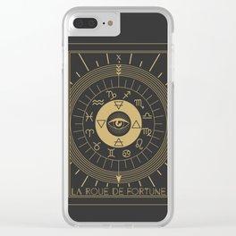 La Roue de Fortune or Wheel of Fortune Tarot Clear iPhone Case