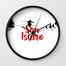 Ski at San Isidro Wall Clock
