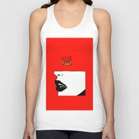 lip Tank Tops featuring Lip King by Keith Cameron