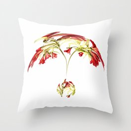 Warped Parrot Lily Throw Pillow