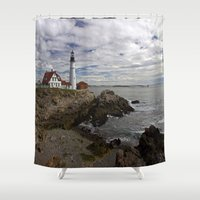 maine Shower Curtains featuring Maine Splendor by Catherine1970