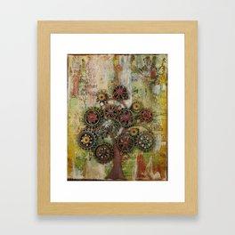 Cog Tree Framed Art Print