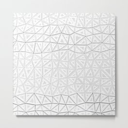 white polygon Metal Print