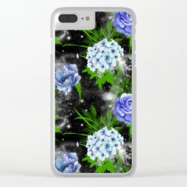 Galaxy Flowers Clear iPhone Case