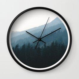 Hazy Mountains II Wall Clock