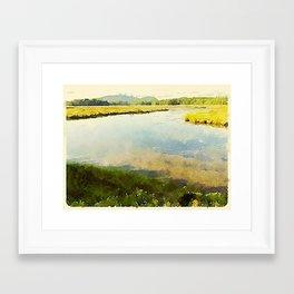 Salt Grass Marsh Framed Art Print
