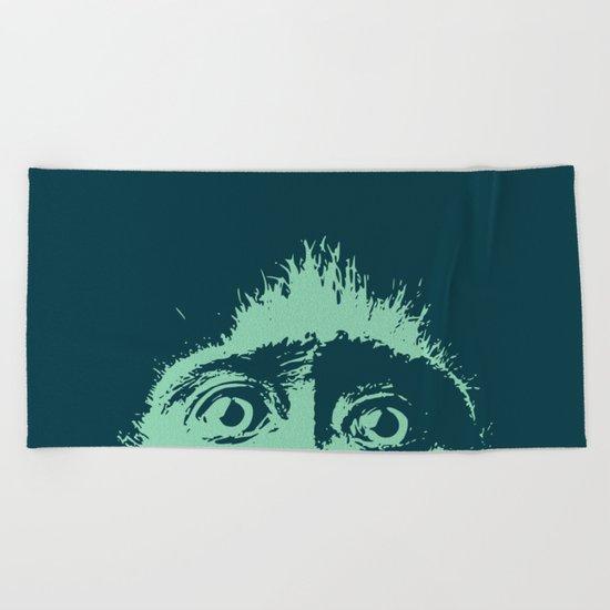 Peeping tom Beach Towel