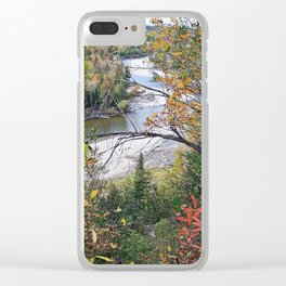 Winding River in Autumn Clear iPhone Case
