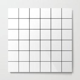 black grid on white background Metal Print