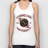 skyrim Tank Tops featuring Stormcloak University(Skyrim) by Chubbybuddhist