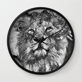 AnimalArtBW_Lion_20170607_by_JAMColorsSpecial Wall Clock
