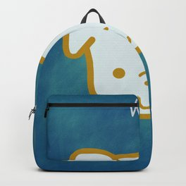 Woof - Dog Graphic - Chalkboard Inspired Backpack