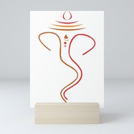 Simple And Elegant Lord Ganesha Mini Art Print