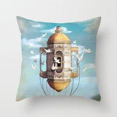 Imaginary Traveler Throw Pillow