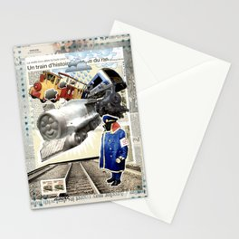 COLLAGE: Trains Stationery Cards