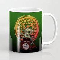 drum Mugs featuring Dragon drum by kuuma
